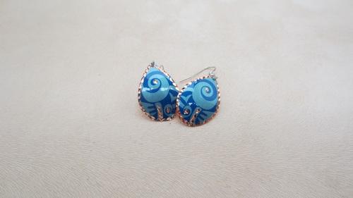 Boucles d'oreilles blue maya