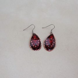 Boucles d'oreilles red Art