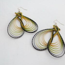 Boucles d'oreilles en bambou Caraïbes