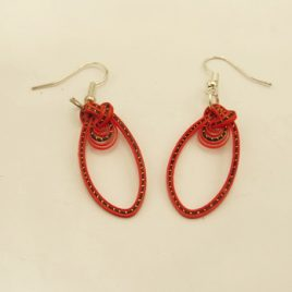 Boucles bambou Simple Red