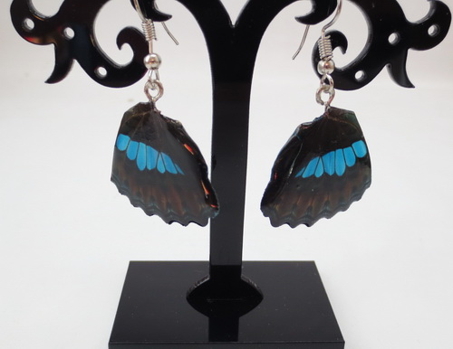 boucles d'oreilles papillons indigo