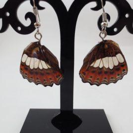 boucles d'oreilles papillons cuivre