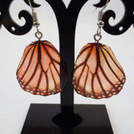 boucles d'oreilles papillons marron