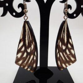 boucles d'oreilles papillons brun