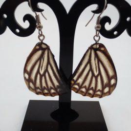 boucles d'oreilles papillons châtain