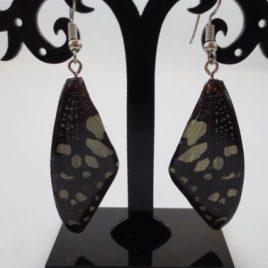 boucles d'oreilles papillons noir
