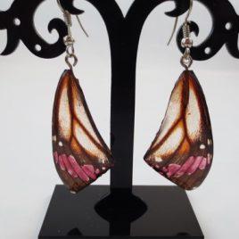 boucles d'oreilles papillons rosée