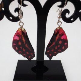 boucles d'oreilles papillons grenadine