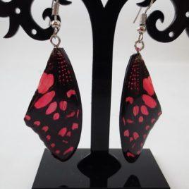 boucles d'oreilles papillons pink