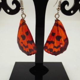 boucles d'oreilles papillons carmin