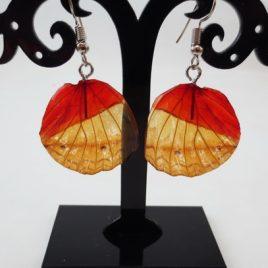 boucles d'oreilles papillons feu