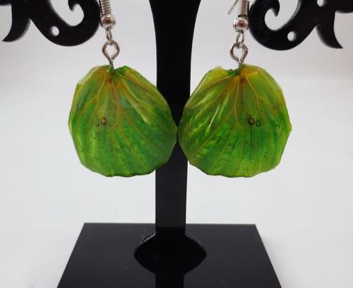 boucles d'oreilles papillons vert émeraude