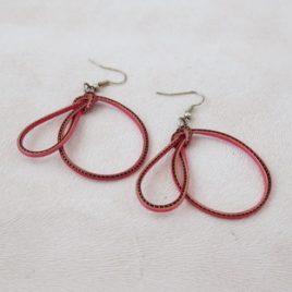Boucles d'oreilles en bambou Pink