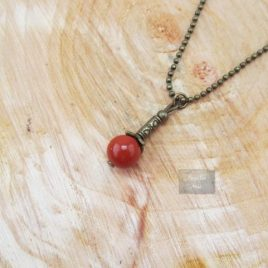 Collier Jaspe Rouge