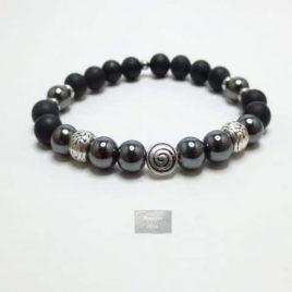 Bracelet hématite Agate