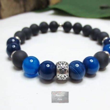Bracelet agate bleue H