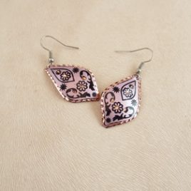 Boucles d'oreilles Pink Sha