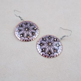 Boucles d'oreilles Purple Origins