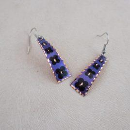 Bijoux fantaisie cuivre violet claw