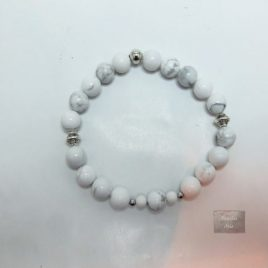 Bracelet pierres naturelles Howlite