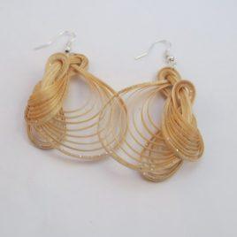 Boucles d'oreilles en bambou Nature