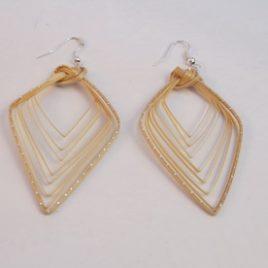 Boucles d'oreilles en bambou Prisme