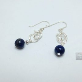 Boucles Argent Lapis Lazuli