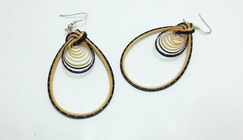 Boucles d'oreilles en bambou Nature black 2