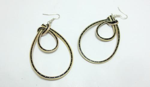 Boucles d'oreilles en bambou Blacky