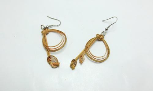 Boucles d'oreilles en bambou Naty