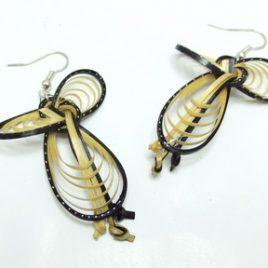 Boucles d'oreilles en bambou Nature Black