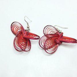 Boucles d'oreilles en bambou Pink Wings
