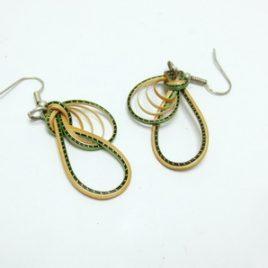 Boucles d'oreilles en bambou Green