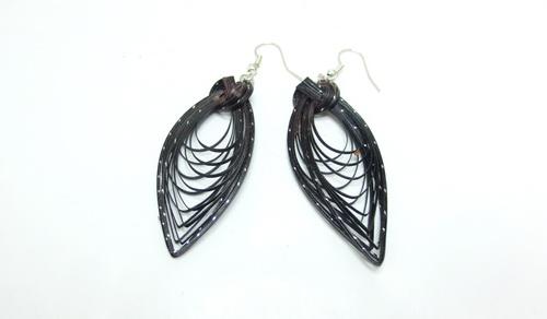 Boucles d'oreilles en bambou Black