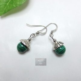 Boucles fines Malachite Kao