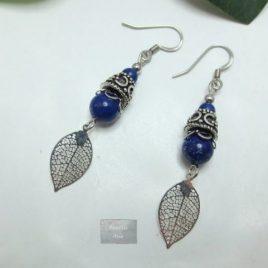 Boucles Lapis Lazuli Leaves