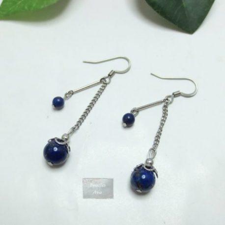Boucles Lapis Lazuli Rainy