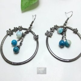 Boucles Agate bleue Créola