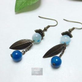 Boucles Agate Plume