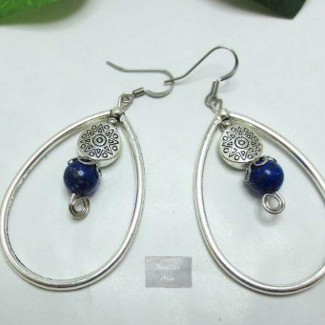 Boucles Lapis Lazuli Créoles