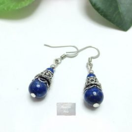 Boucles Lapis Lazuli Dobble