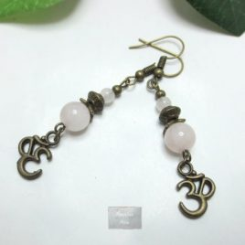 Boucles Quartz rose Ohm