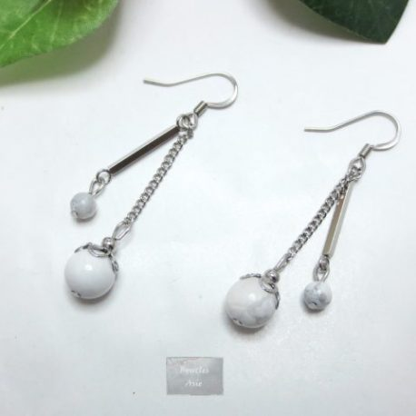 Boucles fines Howlite Rainy