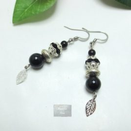 Boucles fines Obsidienne Fili