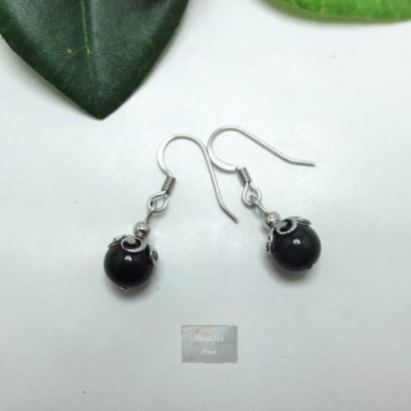 Boucles Obsidienne Kao