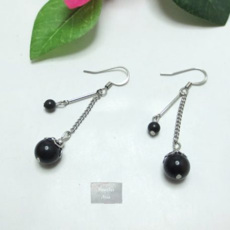 Boucles fines Obsidienne Rainy