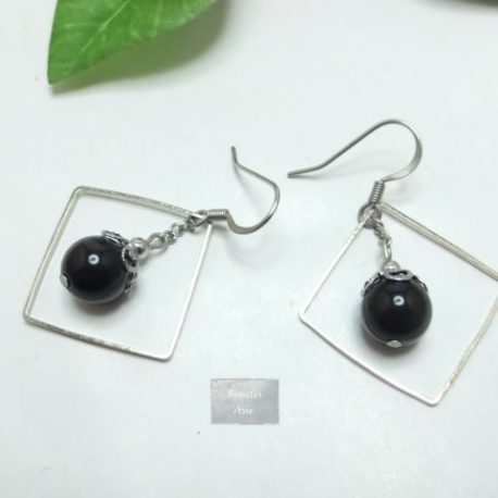 Boucles Obsidienne Square