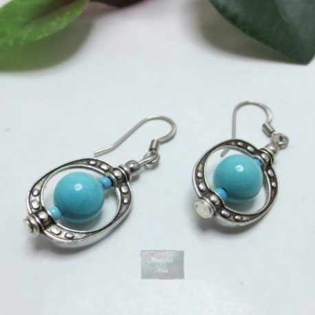 Boucles Turquoise cage