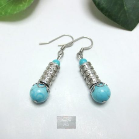 Boucles fines Turquoise Lam
