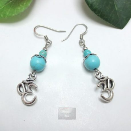 Boucles fines Turquoise Ohm